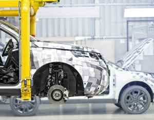 Prototype build tests of the new Land Rover Discovery Sport at the Halewood manufacturing facility