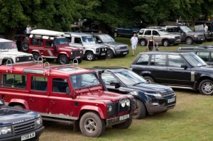 Land Rovers in the Beaulieu parkland